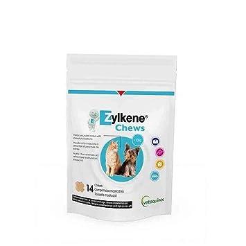 Zylkene Chews - para Perros y Gatos pequeños (75mg) Contenido: 14 Chews=21 Gramos: Amazon.es: Productos para mascotas