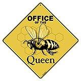"""Office of Queen Crossing 12"""" X 12"""" Aluminum Sign"""