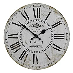 VIPSSCI Antique Inspired Grand Hotel 13 Inch Wall Clock with Roman Numerals