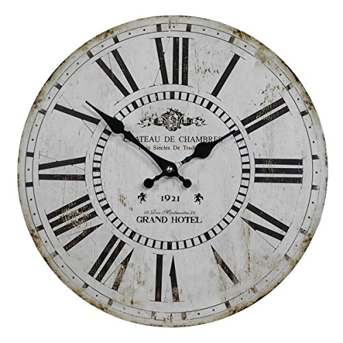 VIPSSCI Antique Inspired Grand Hotel 13 Inch Wall Clock with Roman Numerals -