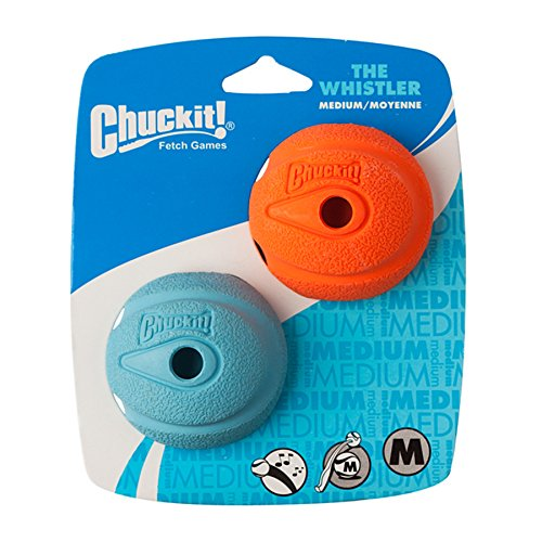 Chuckit The Whistler Ball 2 Pack Medium 6.5cm Dog Toy 6.5cm [Misc.]