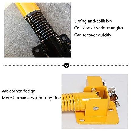 Parkplatzsperre Schwere Metallpoller for sicheres Einparken und Abfangen von Parkspuren Federtyp mit gerader S/äule absperrpfosten Color : B