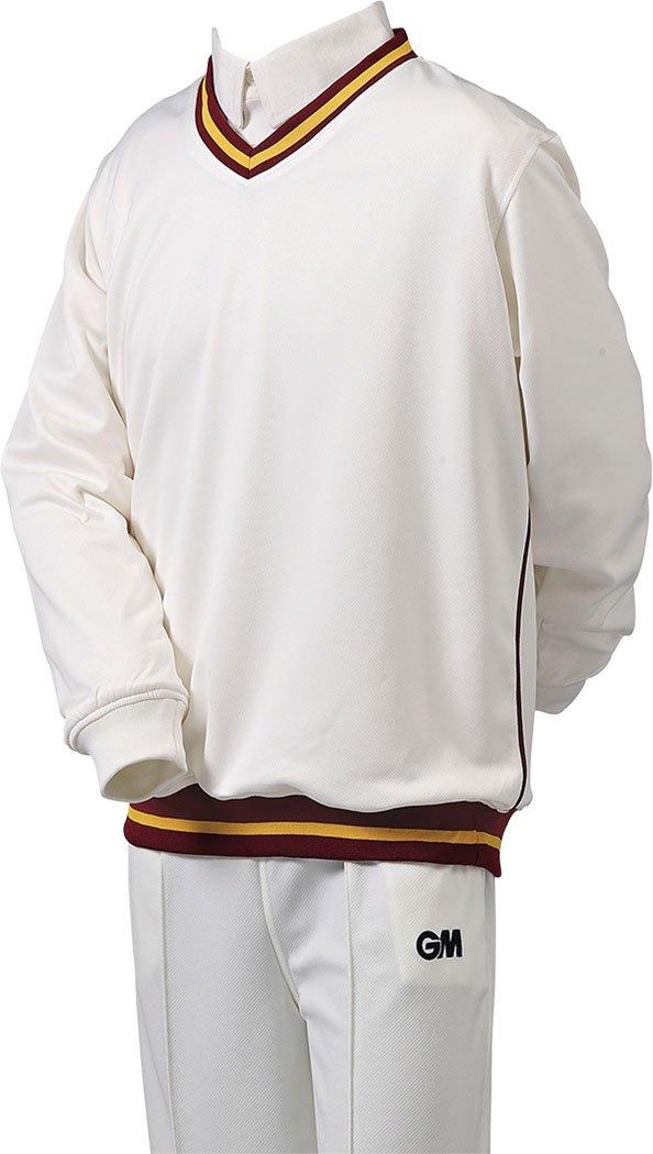 Gunn /& Moore Mens Boys Trimmed Long Sleeve Teknik Cricket Sweater