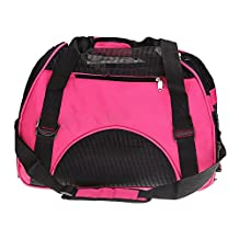 Pet Carry Bag - SODIAL(R) Pet Dog Cat Puppy Portable Travel Carrier Fabric Crate Tote Cage Bag Tote Kennel pink