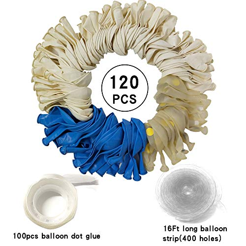 Blue White Balloons Garland Kit Balloon Arch Kit 120pcs Decorating Boy Baby Shower Party Decorations