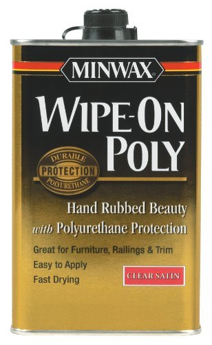 Minwax 40910 Wipe-On Oil-Based Poly, 1-Pint, Clear Satin by Minwax