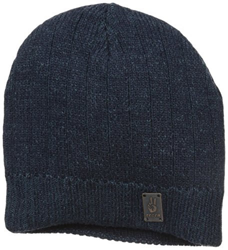 Joseph Abboud Collection - Seger Men's Vein Beanie, Navy/Dirty Blue, One Size