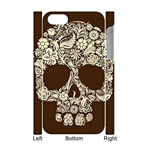 3D Bumper Plastic Case Of Artsy Skull customized case For Iphone 4/4s by supermalls