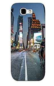 New New Yorkcitynight Road Night Lights Horse Horses Crowd Police Tpu Case Cover, Anti-scratch Enxruz-1660-fhjjmjq Phone Case For Galaxy Note 2 With Design