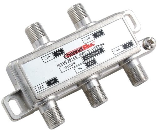 Channel Plus - Dc/Ir Passing Splitter/Combiner (4 Way) - Channel Plus - Dc/Ir Passing Splitter/Combiner (4 Way) Provides A 1Ghz Bandwidth Passes Dc/Ir Control Ideal For Antenna & Coaxial (1 Ghz Channel)