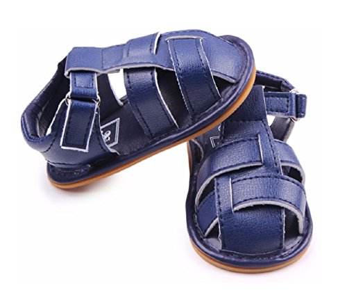 Baby Steps Anchor Baby Boy Shoes (Blue) - 5