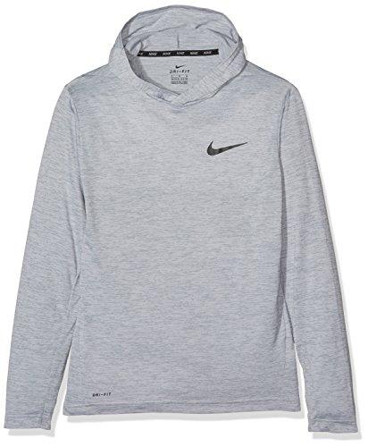 Nike Big Kids' (Boys') Training Hoodie (Medium, Cool Grey/Black)