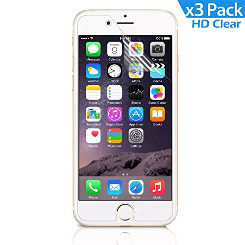 [3-pack] Iphone 6s 6 Screen Protector, Comsun® Ultra-clear Premium Hd Clear Screen Protector 3d Touch Compatible High Definition High Response 99% Touch-screen Accurate for Iphone 4.7 Inch [Lifetime Warranty]