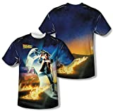Back to the Future - Movie Poster (Front/Back Print) T-Shirt Size XXL