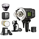 Godox Witstro AD600BM 600WS HSS 1/8000s 2.4G Wireless Outside Studio Flash Light 8700mAh Battery with AD-H600B Portable Flash Head and other Useful Flash Accessories