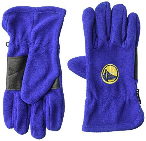 OTS NBA Golden State Warriors Male Fleece Gloves, Royal, Men's