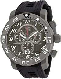 Invicta 17530 Men's Sea Base Titanium Black Polyurethane Watch