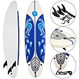 Giantex 6' Surfboard Surf Foamie Boards Surfing Beach Ocean Body Boarding White