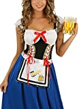 COSWE Women's German Beer Girl French Maid Holloween Outfit