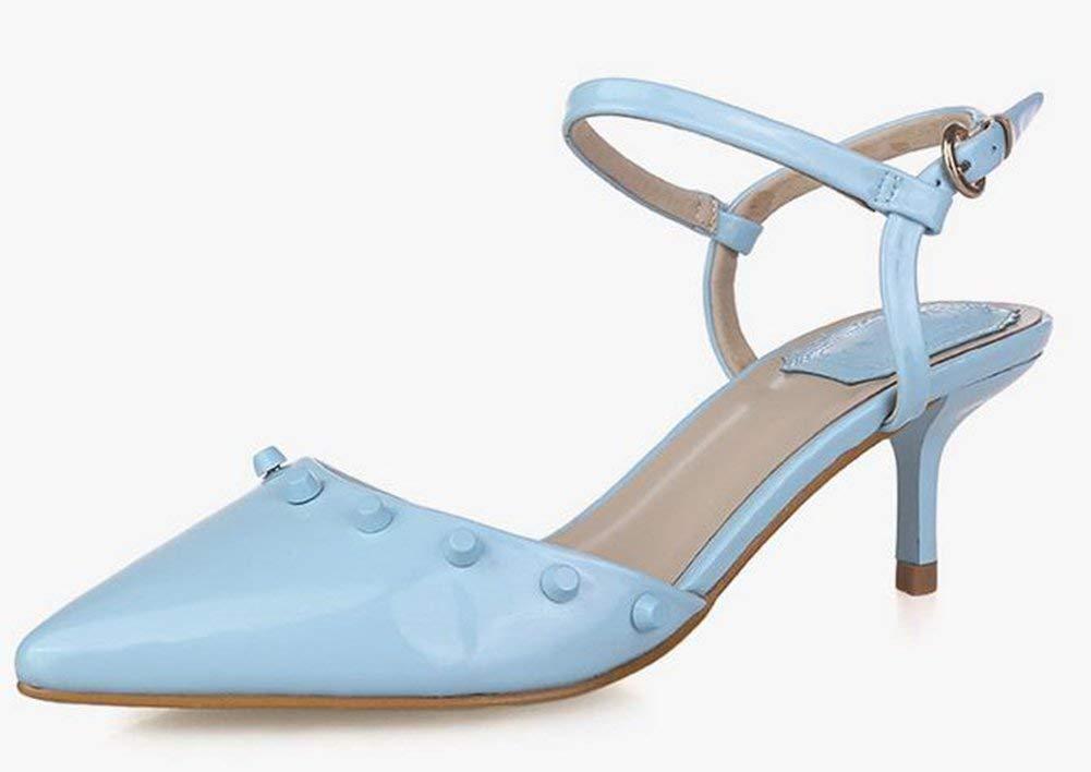 Fuxitoggo Die-Schuhe Nieten (Farbe   Blau Größe   37)