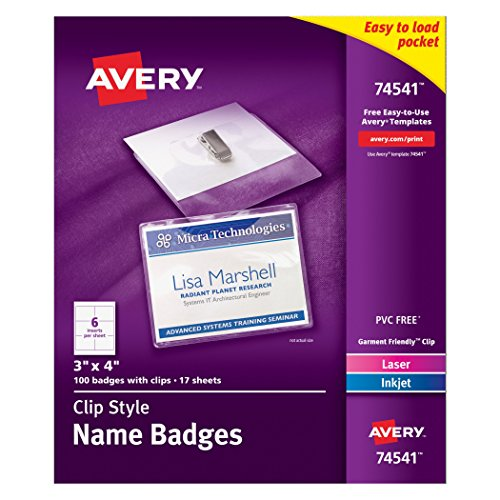 avery-top-loading-clip-style-name-badges-soft-plastic-3-x-4-inches-white-100-holders-and-100-ink-jet