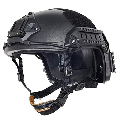 - Lancer Tactical CA-806B Maritime ABS Helmet Color: Black, Size: Large to X-Large