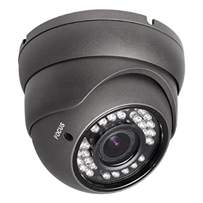 R-Tech 700TVL Outdoor Dome Security Camera with Night Vision and 2.8-12mm Varifocal Lens