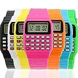 Estone® Cute Children Silicone Date Multi-Purpose Electronic Wrist Calculator Watch