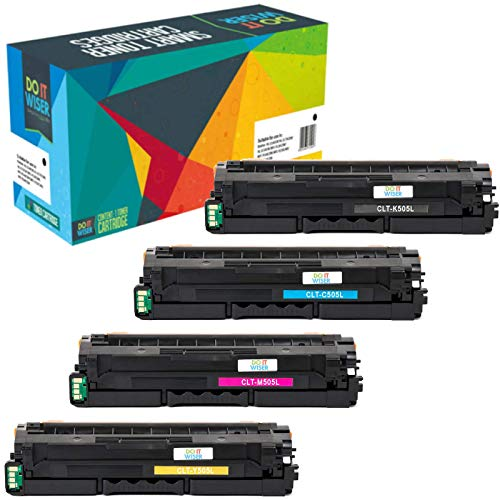 Do it Wiser Compatible Toner for Samsung ProXpress C2620DW C2670FW C2620 C2670 CLT-K505L CLT-C505L CLT-Y505L CLT-M505L (Black Cyan Yellow Magenta, 4-Pack)