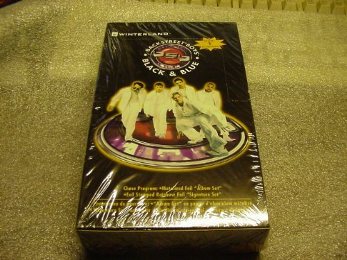 Collectable Unopened Card Set of the Backstreet Boys Black & Blue, 72 Cards. -
