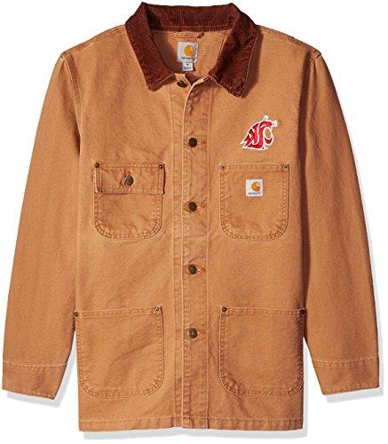 NCAA Washington State Cougars Men's Weathered Chore Coat, Large ()