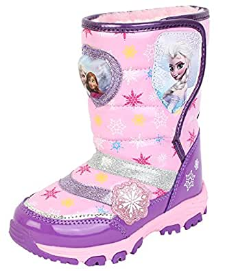 Amazon.com | Disney Frozen Elsa Anna Girl's Purple Winter