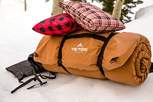 TETON Sports, sleeping pad, Sleeping pad, camping sleeping pad, Gift, must have, best campers, hunters, fishermen, sportsmen, adventures, Camping, hunting, fishing, outdoor activities, gear, outdoor sports, Mens, man's, men, woman, women's, women, kids, teens, youth, adult, portable, compact, convenient, compact design, Easy to compress, easy packing, small packing size, rugged, strong, nicest, quality, well made, well built, lightweight, durable, soft, warm, comfortable, lightweight, Water Resistant, Tear-resistent
