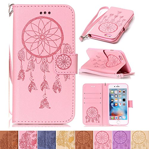 Juicy Couture Flowers Necklace (iPhone 6 Plus / 6S Plus Case, Firefish [Kickstand] Flip Folio Wallet Cover Shock Resistance Protective Shell with Magnetic Closure Emboss Style for Apple iPhone 6 Plus / 6S Plus-)
