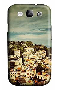 Cute The disance of House Scene Designed PC Materical DIY Phone Case for Samsung s3/i9300