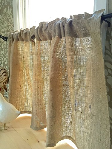 Burlap Cafe Curtain (Le Rustica Kitchen)