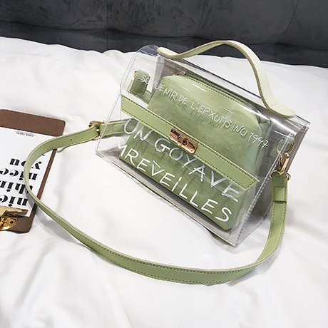 Madre Verde Versione New Estate Cjshop Piccola Jolly Trasparente Borsa Femminile Coreana Pacchetto Semplice Bauletto Figlio Wave 7qZTzw