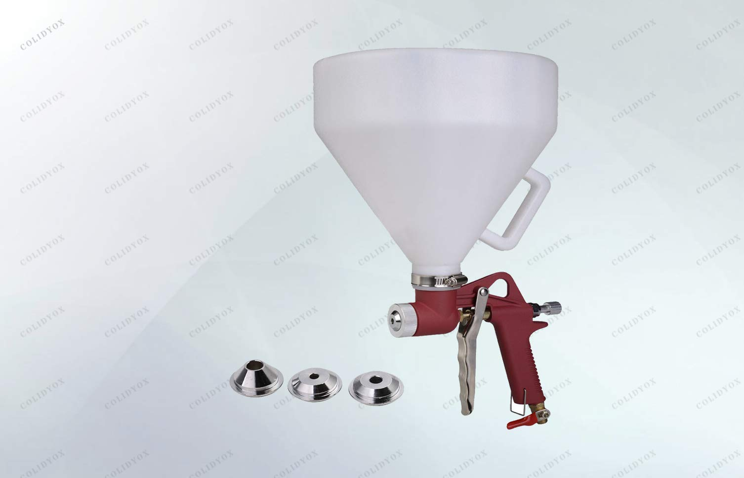 COLIDYOX_Hopper spray gun, ideal tool for applying texture to walls and ceilings, Easy to use with a lightweight. Reliable quality. Perfect performance with adjustable material control.
