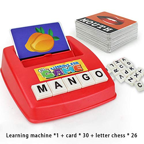 (English Matching Letter Game Cartoon Educational Spelling Words Toy | Increases Memory Interactive Parent-Kids Desk Game | Preschoolers Learning Great Educational Play Set | Early Development)