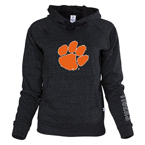 Official NCAA Venley Clemson University Tigers TIGER RAG! Women's Buttersoft Tri- Blend Hoodie (University Clemson Basketball)