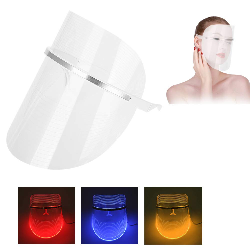 3 Color LED Facial Mask Light Beauty Treatment Skin Rejuvenation Wrinkle Removal Whitening Anti-Aging Facial Peels Machine