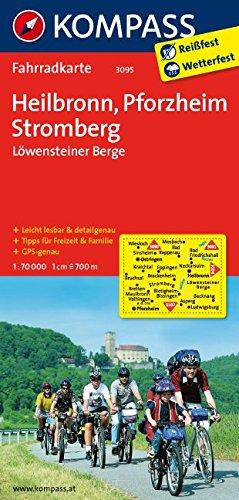 Heilbronn - Pforzheim - Stromberg - Löwensteiner Berge: Fahrradkarte. GPS-genau. 1:70000 (KOMPASS-Fahrradkarten Deutschland, Band 3095)
