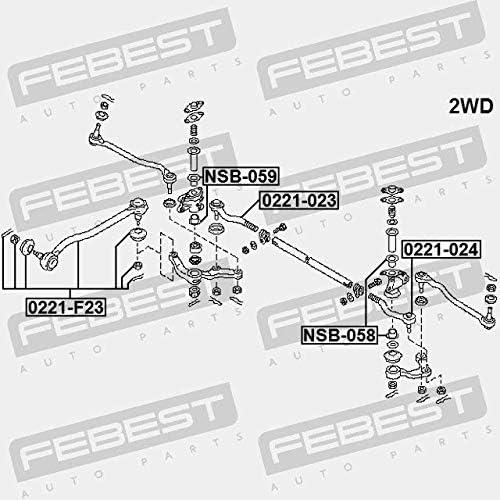Febest 0221-F23 STEERING TIE ROD