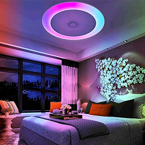 LightInTheBox 36W Ceiling LED Light 408 LEDs Bluetooth Speaker/Remote Control/RC/Dimmable LED Ceiling Lights Warm White Cold White 110-240 V for Home, Office,Living Room, Dining Room]()