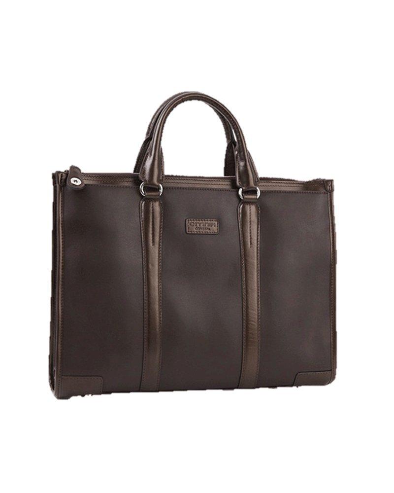 Omina B'type Twoline Cowhide Business Bag (Brown)