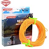 Proberos Fly Line With Weight Forward Enhanced Welded Loop Floating Fly Fishing Line (Orange,7F)