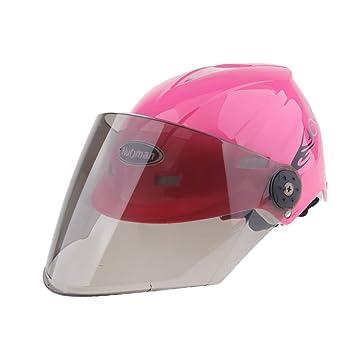 Sharplace Casco de Mitad de Motocicleta Que Monta Tamaño Libre de Cascos Ciclo - Rosado