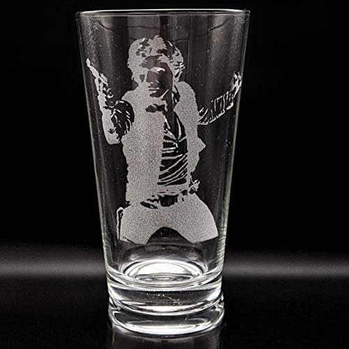 MILLENNIUM FALCON Engraved Pint Glass