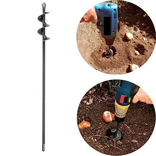 Auger Drill Bit, Steel Gardening Earth Auger Hole Digger for Planting Bedding Bulb Seedlings Plant Auger (1.6