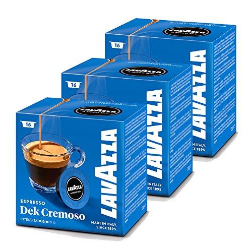 Lavazza A Modo Mio Espresso Dek Cremoso 16 Coffee Machine Capsules by Lavazza